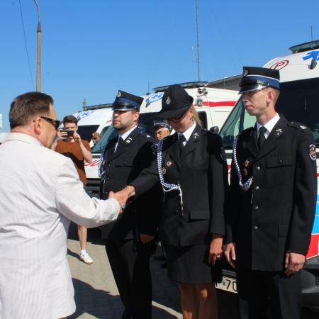 Ambulanse dla strażaków - ochotników z Powiatu Płockiego