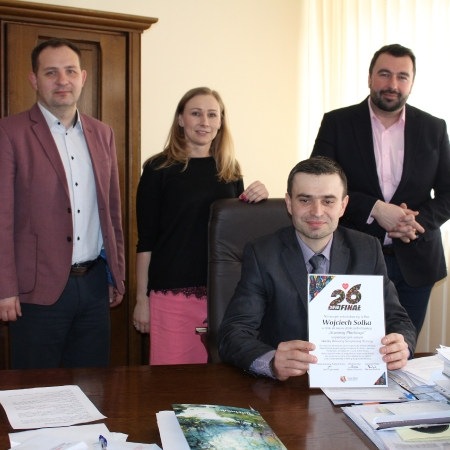 Wojciech Solka wylicytował podczas WOŚP dzień w fotelu Starosty Płockiego