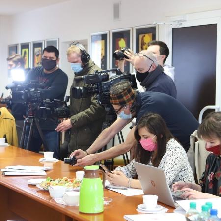 Konferencja podsumowująca sytuację przeciwpowodziową na terenie Powiatu Płockiego