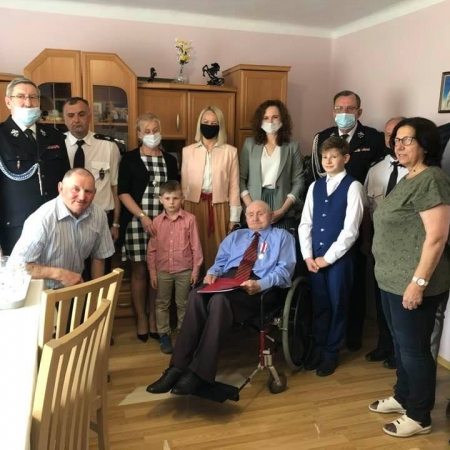 Pan Stefan Kowalczyk z Rakowa świętował setne urodziny