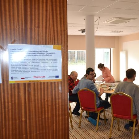 Uczestnicy podczas warsztatów