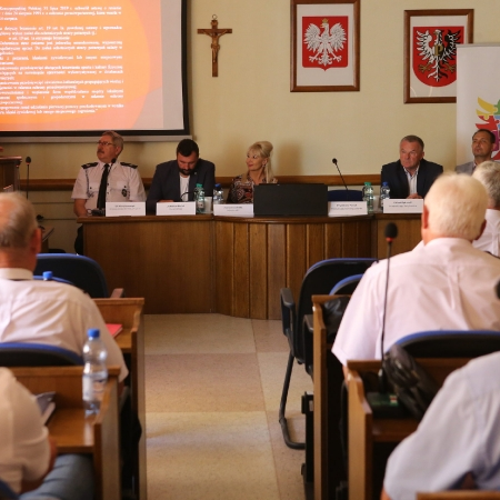 Wizyta Prezesa Zarządu Głównego ZOSP RP  w powiecie płockim