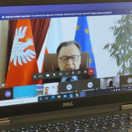 W posiedzeniu Wojewódzkiej Rady Dialogu Społecznego wziął udział również Starosta Płocki Mariusz Bieniek